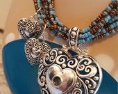 sale Heart Necklace & Earrings 1 Corinthians 13:4 Bible Verse Secret Hidden Prayer Message Love Valentine's Day Gift