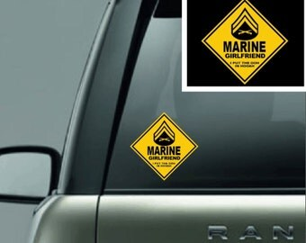 Marine Girlfriend Full Color Vinyl Decal