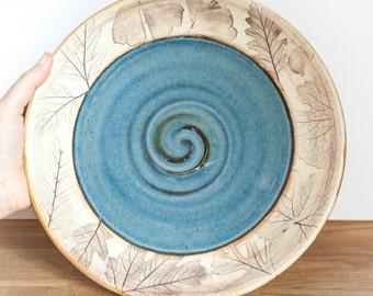 Handmade Dinner Plate - Woodland
