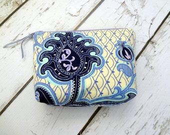 Zipper bag,  cosmetic bag, travel bag, Amy Butler , ready to ship!