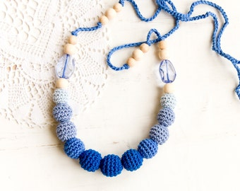 Blue nursing Necklace - Nursing necklace - mommy necklace - nautical