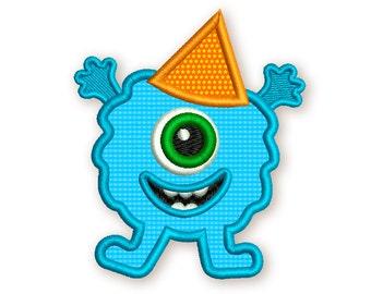 Monster Applique Machine Embroidery Design for Baby Happy Birthday DE028