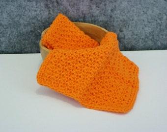 Bright Orange Cloth, Crochet Spa Cloth, Cotton Wash Cloth Set, Crocheted Homegoods, Bathroom Washcloth Set, Eco Friendly Spa Cloth, Set of 2