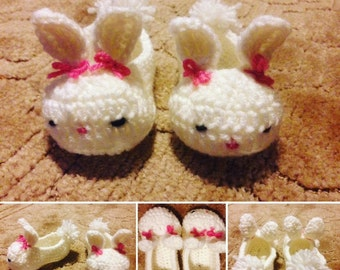 Bunny Slippers, Bunny, Baby Bunny, Toddler Slippers, Easter, Slippers, Baby Booties, Easter Bunny, Baby Shower Gift, Bunny Love, Baby Girl
