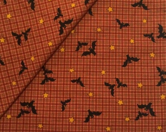Halloween Fabric/ Bat Fabric / Cotton Fabric / Cranston Print Works / 2 Yards