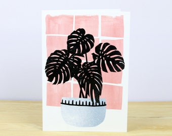 Tropical Pot Plant No.4 Greetings Card