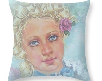 marie antoinette art, french rocoo pillo, frnch rococo style home decor thrwo pillow