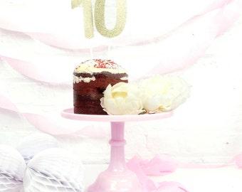 Glitter Number Cake Topper