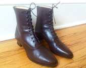 Laura Ashley Brown Boots Womens Size 39 / Size 8 US Made in Portugal