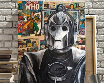 Doctor Who Canvas Print of The Cyberman