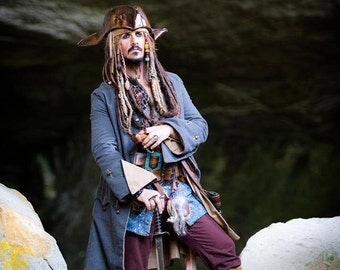 Jack Sparrow pirate jacket custom replica