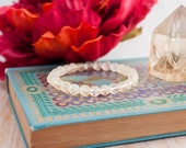 Citrine Gemstone Stretch Bracelet Zodiac Bracelet