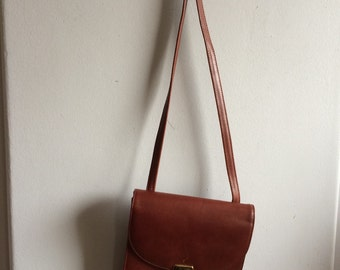 Cole Haan Brown Leather Small Messenger Bag