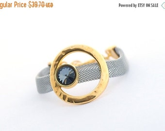 ON SALE Modern Women Bracelet, Minimalist Bracelet, Cuff Women Bracelet,  Geometric Jewelry, Swarovski Crystal, gift for her