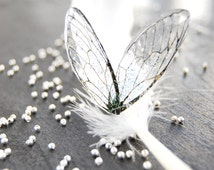 Set of four small crystal fairy wings (two symmetric pairs!) 5.4 cm x 1.8 cm &  5 cm * 1.6 cm. Pixie wings