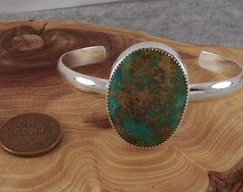 Natural Nevada Turquoise and Sterling Silver Bracelet