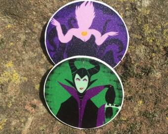 Disney Villain badge pair