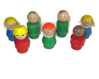 Fisher Price Little People Wooden men women children customization TLC lot 60s 70s 80s toys