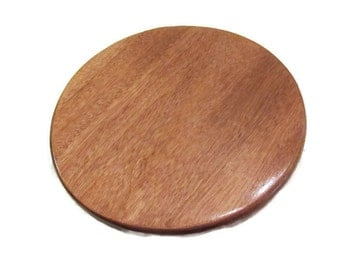 Mahogany Lazy Susan, Small Lazy Susan, Wood Lazy Susan, Rustic Turntable, 12 inch Lazy Susan, Table Centerpiece, Kitchen Decor