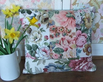 Patchwork Floral Cushion Cover
