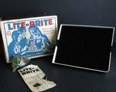 Vintage Lite Brite by Hasbro 1967 Pegs and Pattern Sheets Lite-Brite