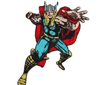 Thor God of Thunder Marvel Comics Superhero & Avenger Embroidered Iron On Applique Patch