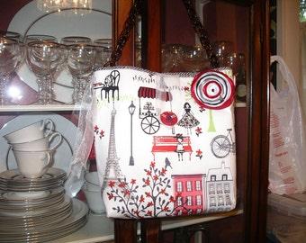 Fabric Naif Paris Handbag