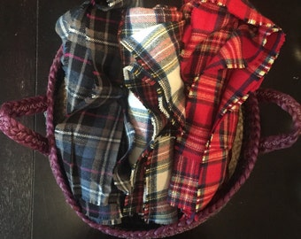 Plaid Blanket Scarf - Multiple Colors Available