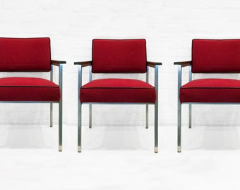 Set of Three General Fireproofing Armchairs, circa 1980