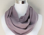 Organic Cotton Infinity Scarf in Lilac Lavender Purple // Hood Scarf