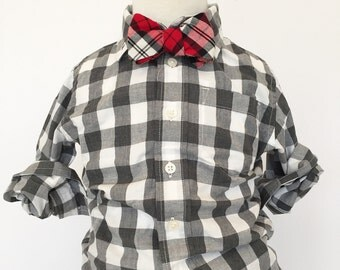 Red Plaid Bow Tie Ships in time for Christmas