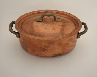 Petite Copper Roasting Pan France