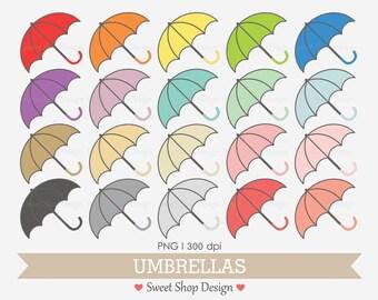 Umbrella Clip Art, Rain Clip Art, Digital Clip Art, UMBRELLAS, Instant Download