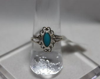 Sterling Silver and Turquoise Filigree Ring