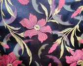 Antique woven floral silk fabric fragments c1890 salvage skirt panels design sewing projects pillow