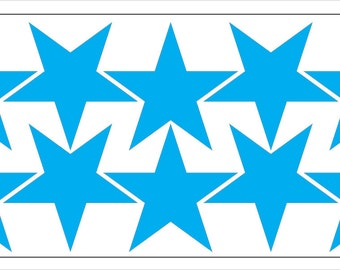 Star-shaped vinyl stickers - 2in - many colours available