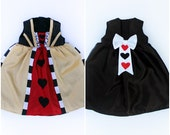 Baby Girls Queen of Hearts Costume Dress Handmade Unique - Ready to Ship
