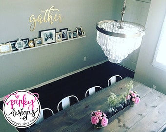 Gather Metal Sign | 3 FT | Metal Gather Sign | Metal Gather Word | Dining Room Decor | Gallery Wall Decor | Gather