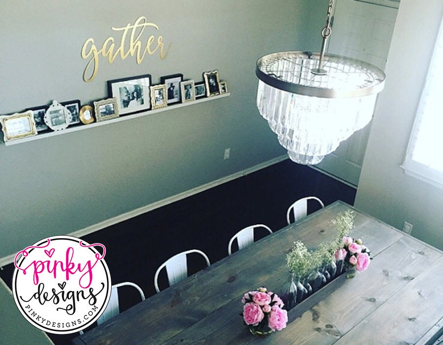 Gather Metal Sign 3 FT Wall