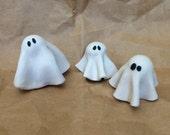 Spooky Little Porcelain Halloween Ghosts, sets of 3
