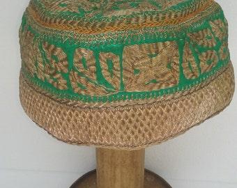Vintage Embroidered Zari Prayer Cap