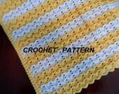 Baby Blanket Crochet Pattern, Petite Ripple Afghan, Crib Blanket Pattern