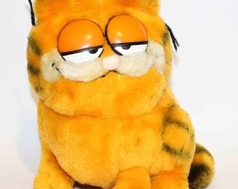 "SALE! Garfield Cat Vintage 1981 Dakin 8"" Stuffed Animal Plush"