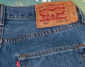 LEVI 501 JEANS Denim Waist: 30 inches 501X6
