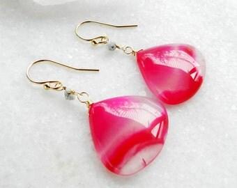 agate earrings, gold earrings,  druzy diamond, dangle earrings, drop earrings, quartz earrings, agate slice, raw diamond, diamond earrings