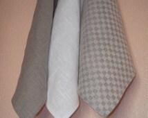 Linen wash cloth natural face cloth beauty scrub linen hand towel set of 3