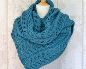 Scarf KNITTING PATTERN Kinvara Shawl Wrap Easy Improving Beginner Chunky Wrap Quick Knitting Pattern Digital File Instant Download