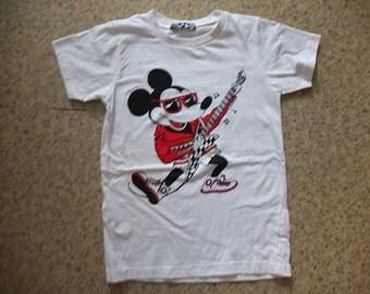 Mickey Rat Rocker Guitarist, Punk Rock Heavy Metal T-shirt XS