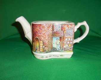 "One (1), Bone China, Tea Pot, from Sadler, in; ""The Old Pottery"", Pattern. No Lid."