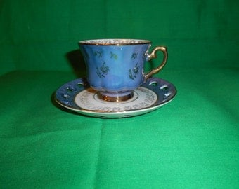 One (1), Porcelain, Footed Tea Cup & Saucer, from Empress China, of Japan.